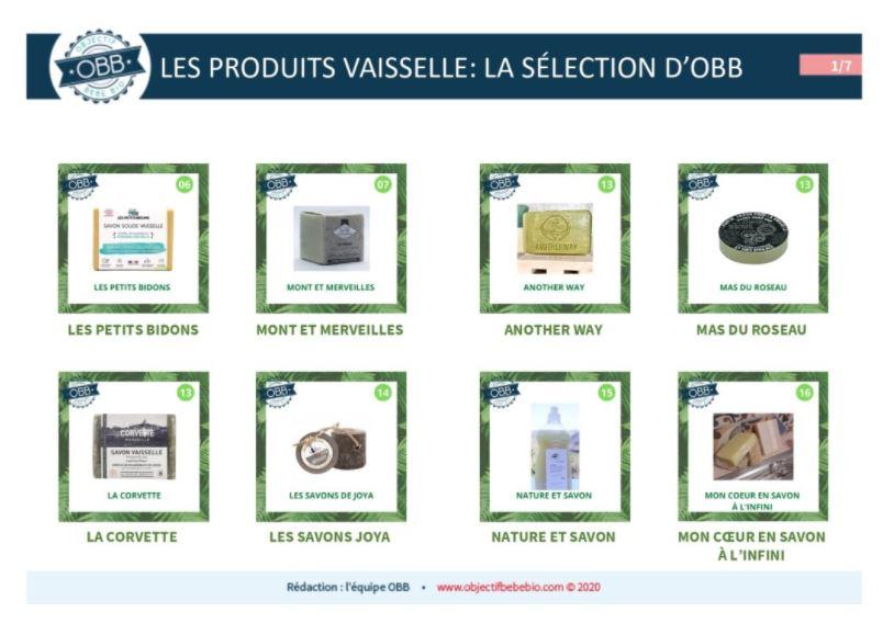 Produits Vaisselle : la sélection d'OBB